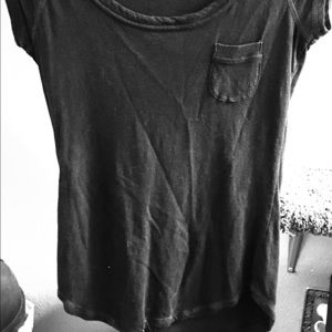 Black, Fitting Tee With Small Pocket!